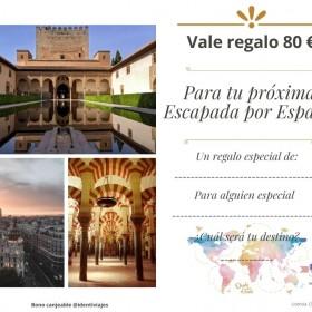 Vale regalo Escapada España 80 €