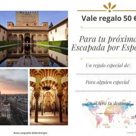 Vale regalo Escapada España 50€